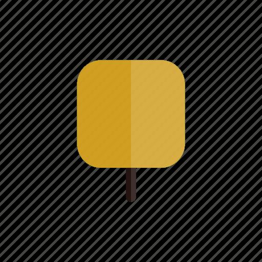 autumn, nature, plant, square, tree, yellow icon