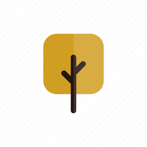 autumn, branches, nature, plant, square, tree, yellow icon