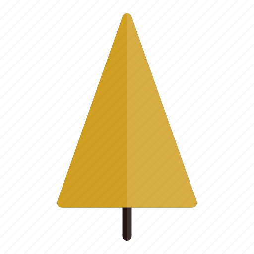 Plant, triangle, nature, tree, yellow, autumn icon