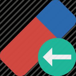 clean, delete, erase, eraser, previous, remove, rubber icon