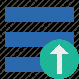 list, menu, nav, navigation, options, toggle, upload icon