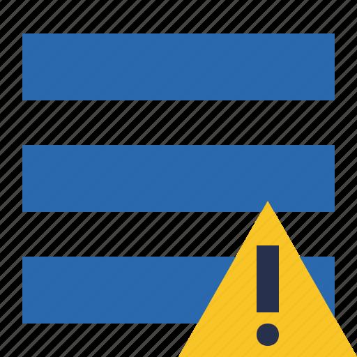 list, menu, nav, navigation, options, toggle, warning icon