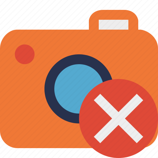 camera, cancel, photo, photocamera, photography, picture, snapshot icon