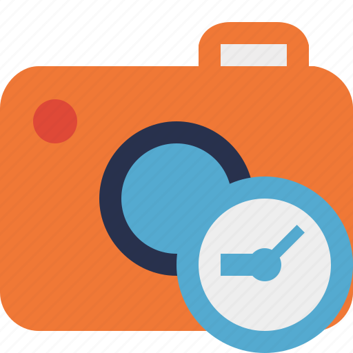 camera, clock, photo, photocamera, photography, picture, snapshot icon
