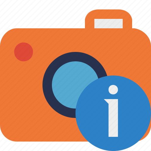 camera, information, photo, photocamera, photography, picture, snapshot icon