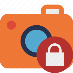 camera, lock, photo, photocamera, photography, picture, snapshot icon