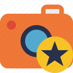 camera, photo, photocamera, photography, picture, snapshot, star icon