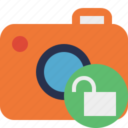 camera, photo, photocamera, photography, picture, snapshot, unlock icon