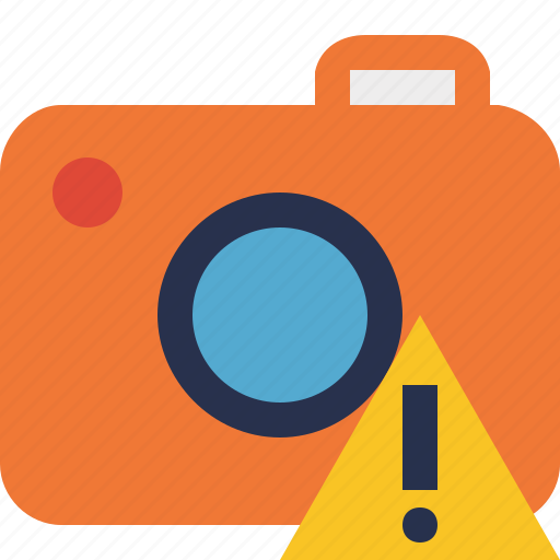 camera, photo, photocamera, photography, picture, snapshot, warning icon
