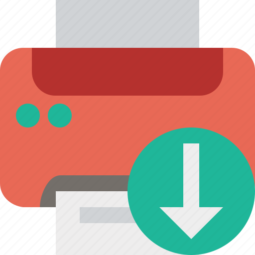 document, download, paper, print, printer, printing icon