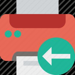 document, paper, previous, print, printer, printing icon