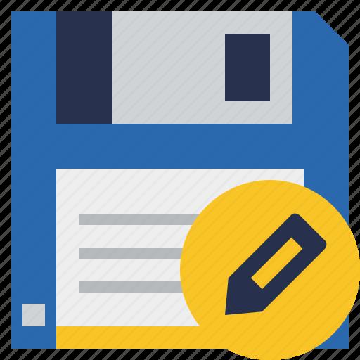 backup, data, disk, download, edit, file, save icon