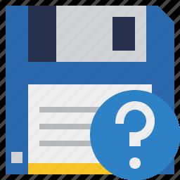 backup, data, disk, download, file, guardar, help, save icon
