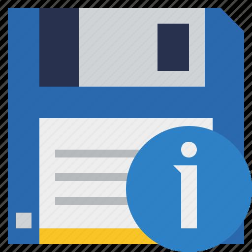 backup, data, disk, download, file, information, save icon