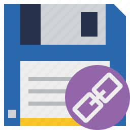 backup, data, disk, download, file, link, save icon
