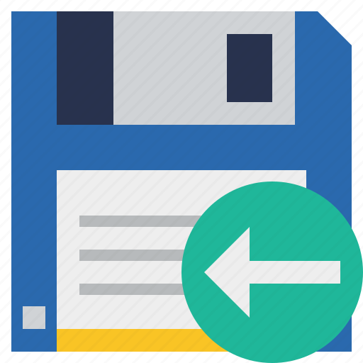 backup, data, disk, download, file, previous, save icon