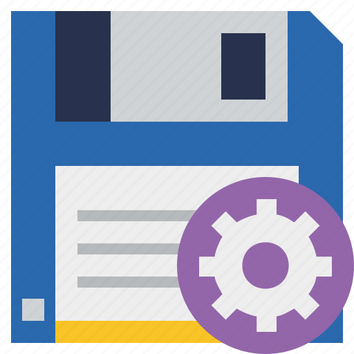 backup, data, disk, download, file, guardar, save, settings icon