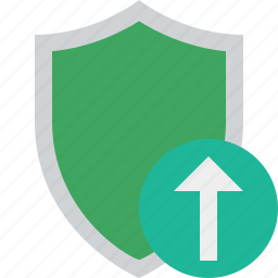 protection, safety, secure, security, shield, upload icon