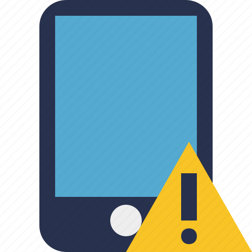 device, iphone, mobile, phone, smartphone, warning icon