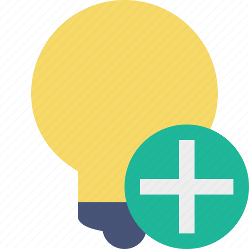 add, bulb, idea, light, tip icon