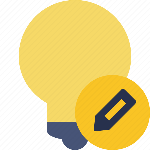 bulb, edit, idea, light, tip icon