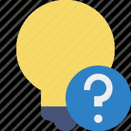 bulb, help, idea, light, tip icon