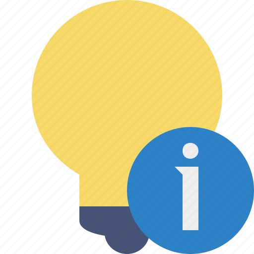 bulb, idea, information, light, tip icon