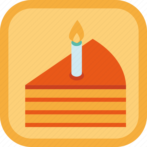 badge, birthday, cake, candle, food, gamification, pie icon