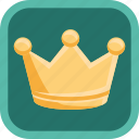badge, crown, gamification, gold, reward, trophy icon