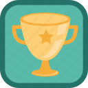 achievement, award, badge, best, cup, gamification, gold, prize, star, trophy, win, winner icon
