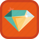 achievement, badge, diamond, gamification, gem, jewel, jewelry icon