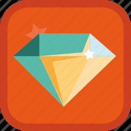 achievement, badge, diamond, gamification, gem, jewel, jewelry icon