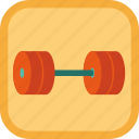 award, badge, dumbbell, exercise, gamification icon