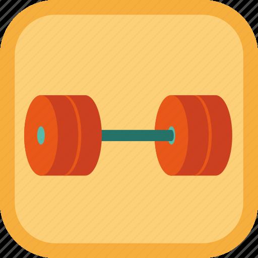award, badge, dumbbell, exercise, gamification icon