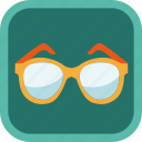 badge, clever, gamification, glasses, learning, smart, student icon