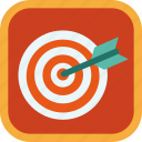 aim, arrow, badge, gamification, goal, target icon