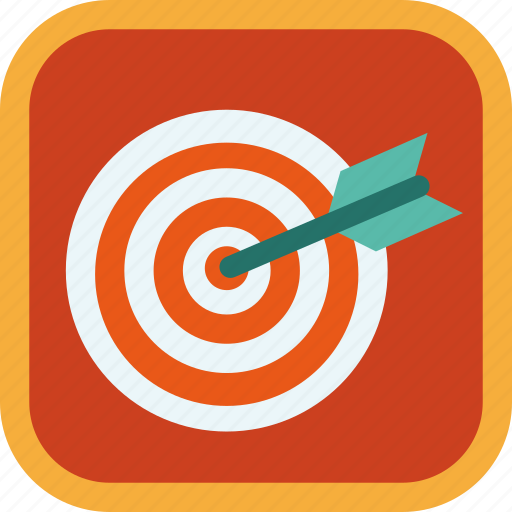 aim, arrow, badge, gamification, goal, target icon