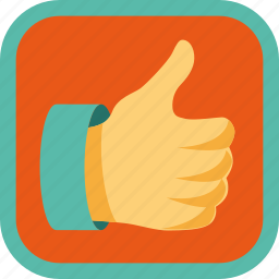 appreciate, badge, gamification, hand, like, thumb up icon