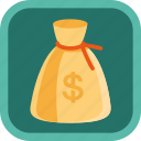 badge, bag, dollar, gamification, money icon
