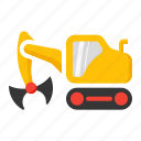 bucket, clamp, clampshell, construction, crane icon