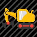 bucket, clamp, clampshell, construction, crane