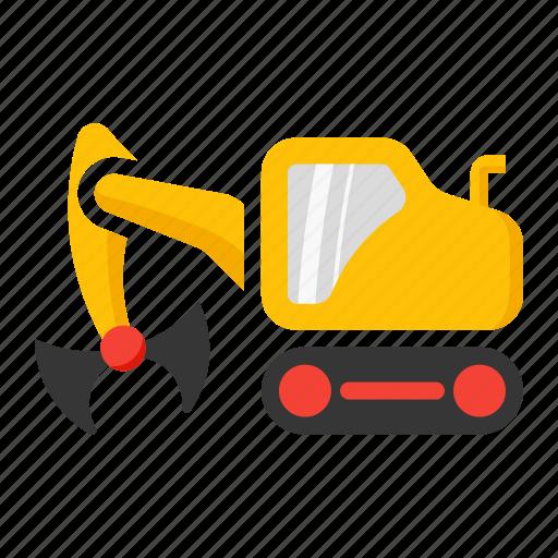 bucket, clamp, clampshell, construction, crane icon