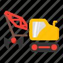 civil, crane, dragline, excavator, mining icon