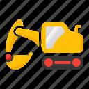 backhoe, dig, excavator, truckshovel icon