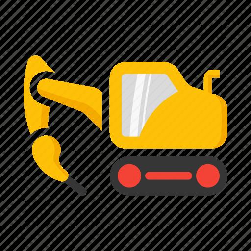 break, construction, excavator, hammer, strike icon