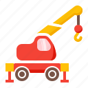 cargo, carry, crane, mobile, transport icon