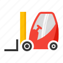 carry, forklift, industrial, move, vehicle icon