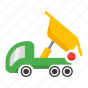 carry, dump, dumper, lorry, tipper icon