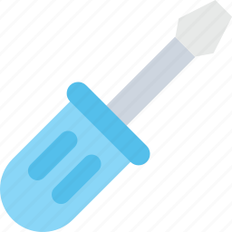 constructor tool, garage tool, repair tool, screw driver, turnscrew icon