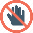 danger sign, hand sign, stop sign, traffic sign, warning symbol icon